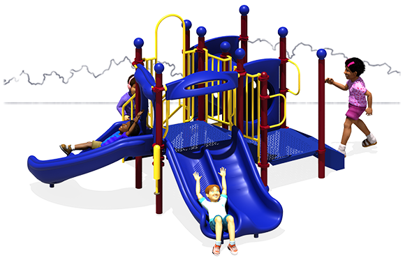 Deuces Wild - Commercial Play Structure - Primary - Front