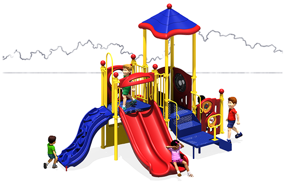 Tiki Tall - Commercial Play Structure - Primary - Front