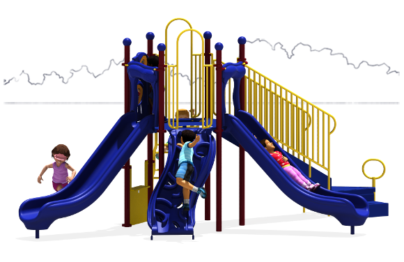 Ridge Runner Play Structure - Primary Colors - Front View