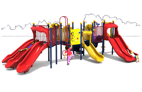 Commercial Playground Equipment - Super Slide - Primary - Front