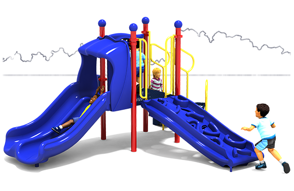 Getting Good - Commercial Playground Structure - Primary Color Scheme - Front View