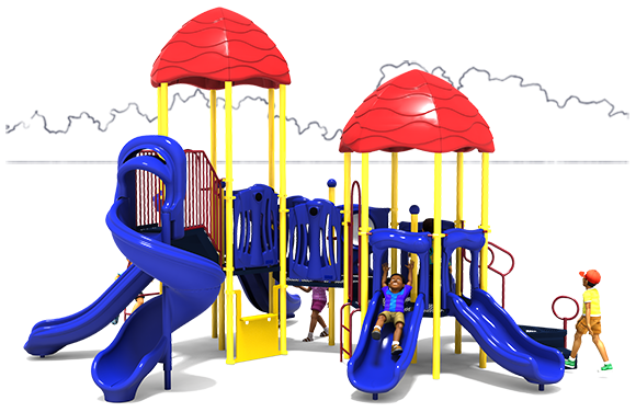 Raise The Roof - Commercial Playground Equipment - Primary Color Scheme - Front View