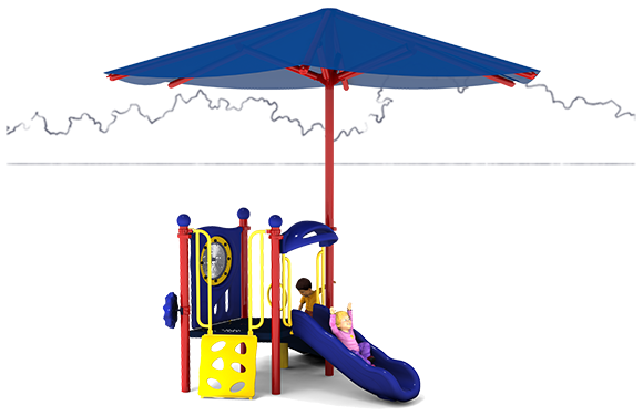 Jubilee Commercial Play Structure - Primary Color Scheme - Front View