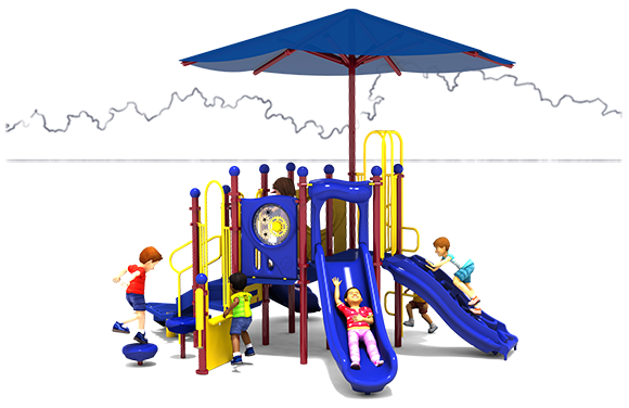 Tiddlywinks - Commercial Playground Equipment - Primary Colors - Front View