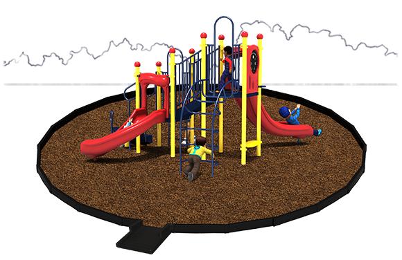 Jumping Jack Playground Bundle with Engineered Wood Fiber