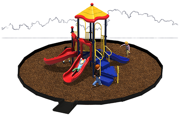 Junior Jam Playground Bundle with engineered wood fiber