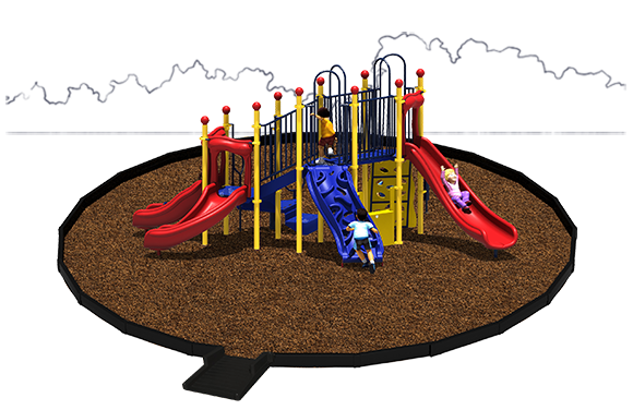 Simon Says Playground Bundle with Engineered Wood Fiber