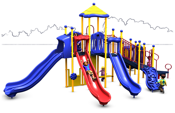 Big Kahuna - Commercial Playground Equipment - Primary Colors -  Front View