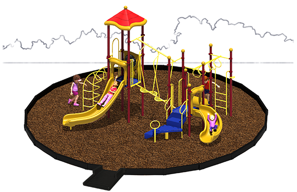 Amazing Adventure Playground Bundle with Engineered Wood Fiber