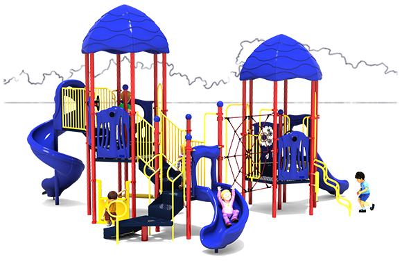 Round Robin - Commercial Play Structure - Primary Color Scheme - Front
