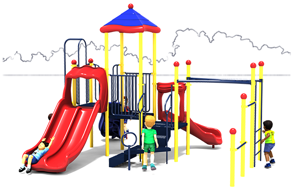 Fun Zone - Commercial Playground Equipment - Primary - Front