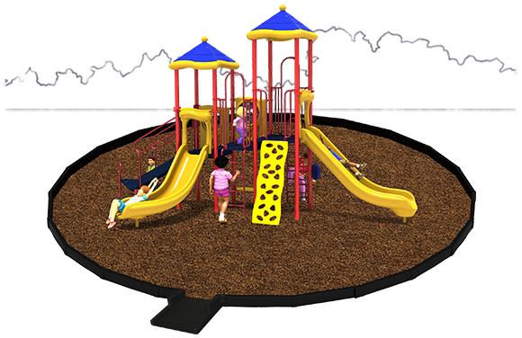 American Parks Company - Head Start Turnkey Playground Bundle - Engineered Wood Fiber