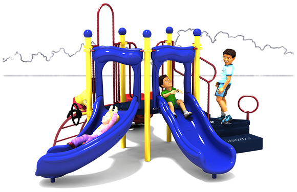 Short Stuff - Commercial Playground Equipment - Primary Colors - Back Side