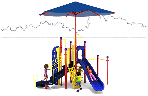 Kool Kids - Commercial Playground Equipment - Primary Color Scheme - Front