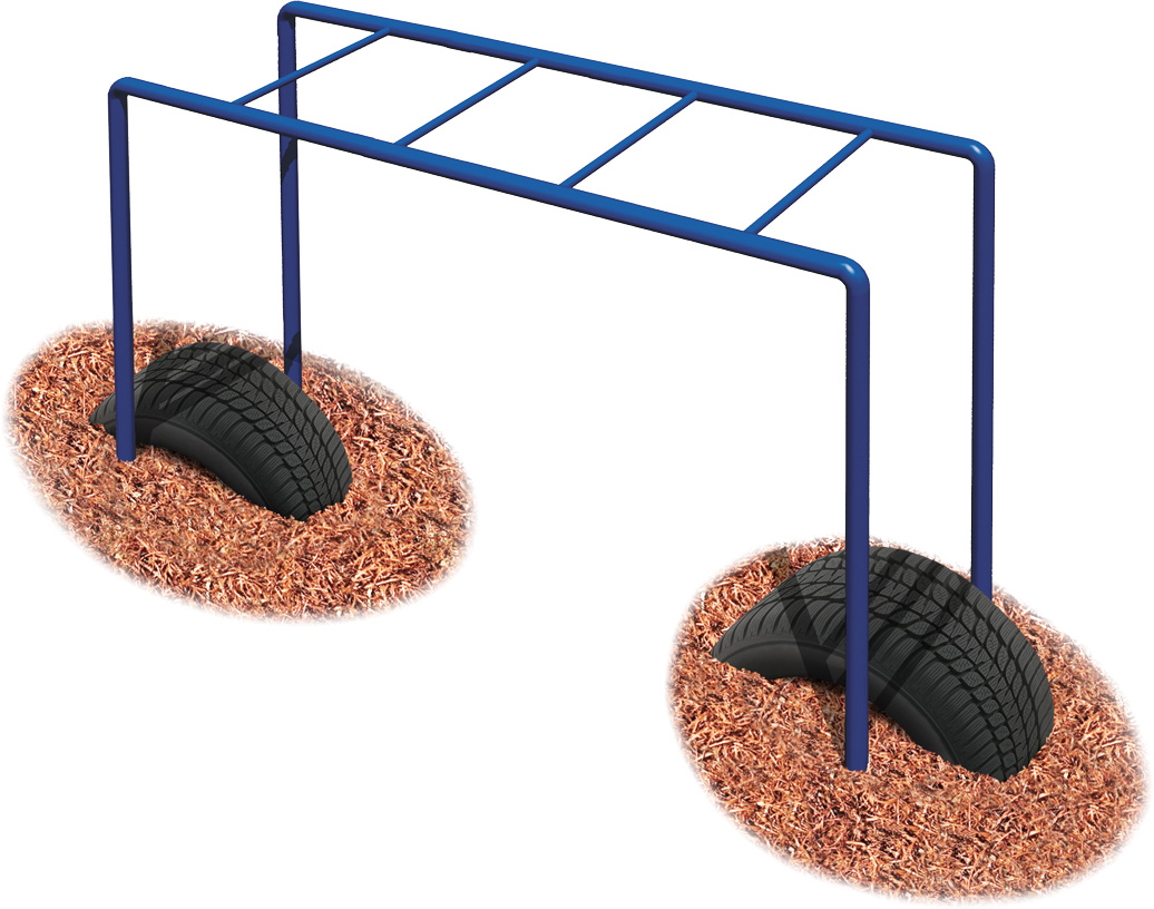 Early Childhood Horizontal Ladder | Independent Play Climbers | Commercial Playground Equipment