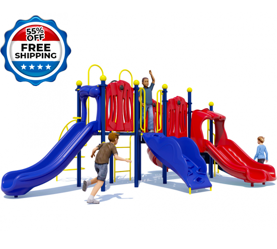 Rhyme 'n Reason Playground Equipment - Primary Color Scheme - Front View