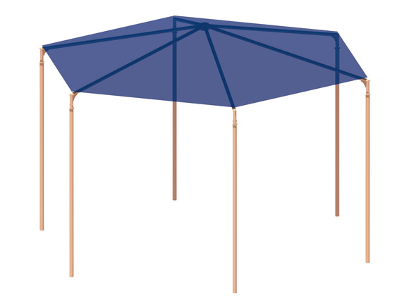 American Parks Company - Site Furnishings - Shade Structures - Hexagon