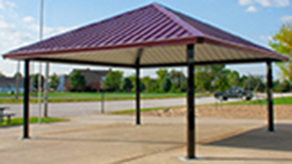 Single Tier Square Steel Shelter