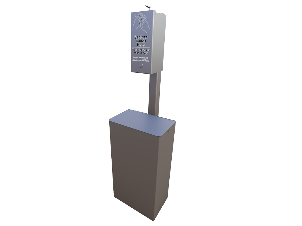 Small Sanitation Station with receptacle | Site Furnishings | American Parks Company