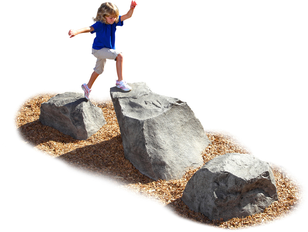 stepping stones - commercial playground equipment - natural
