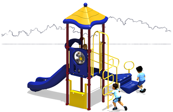 Tator Tot Playground Equipment  | Primary Color Scheme Front