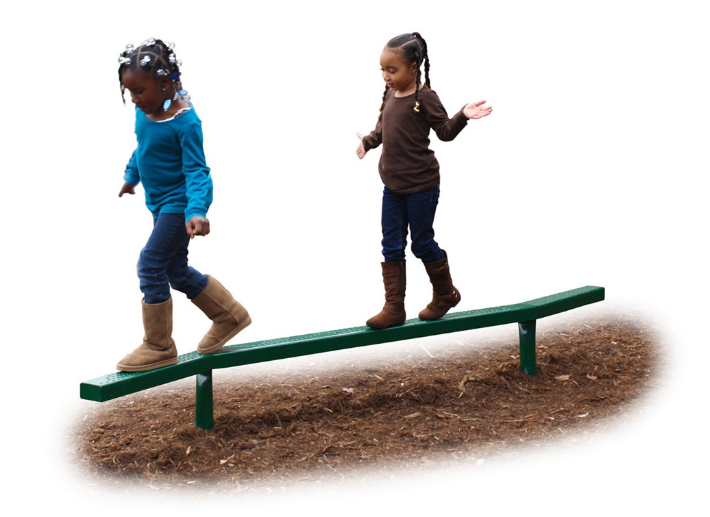 zig zag balance beam - Commercial Playground Equipment - natural - lifestyle