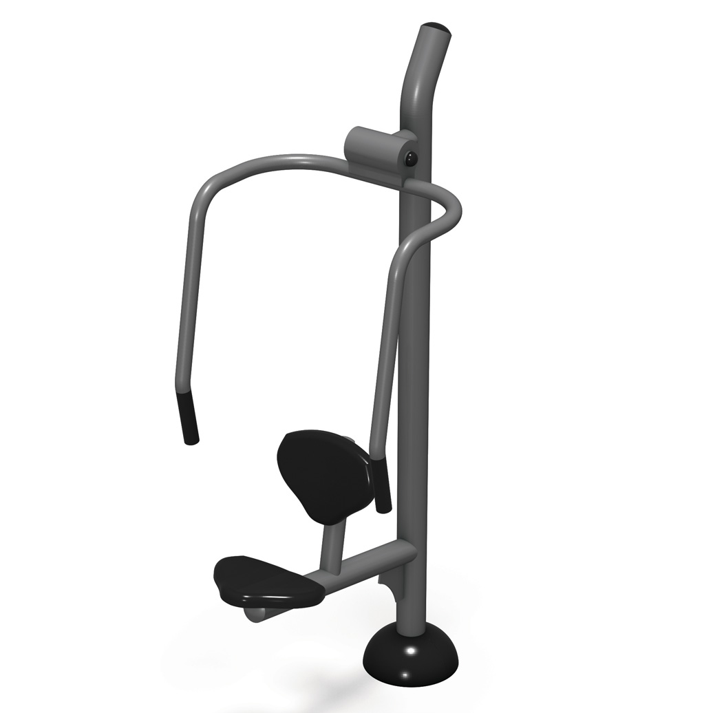 chest press - Pocket Fitness Park B - Commercial Outdoor Exercise Equipment - American Parks Company