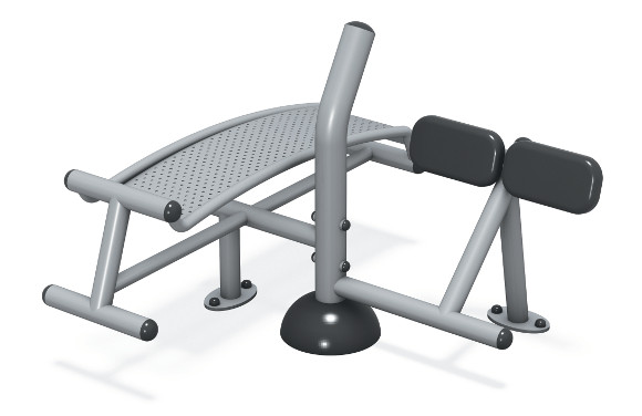Sit-Up / Back Extension Station - Outdoor Fitness Equipment - American Parks Company