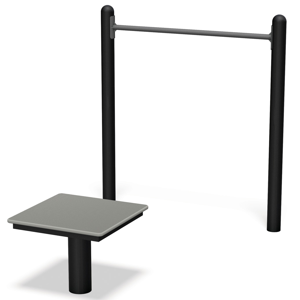 horizontal chin up station - Pocket Fitness Park B - Commercial Outdoor Exercise Equipment - American Parks Company