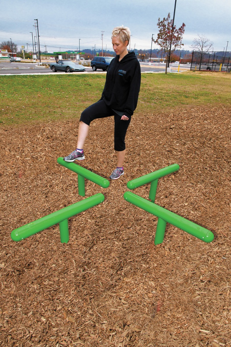 log hop station - outdoor fitness equipment