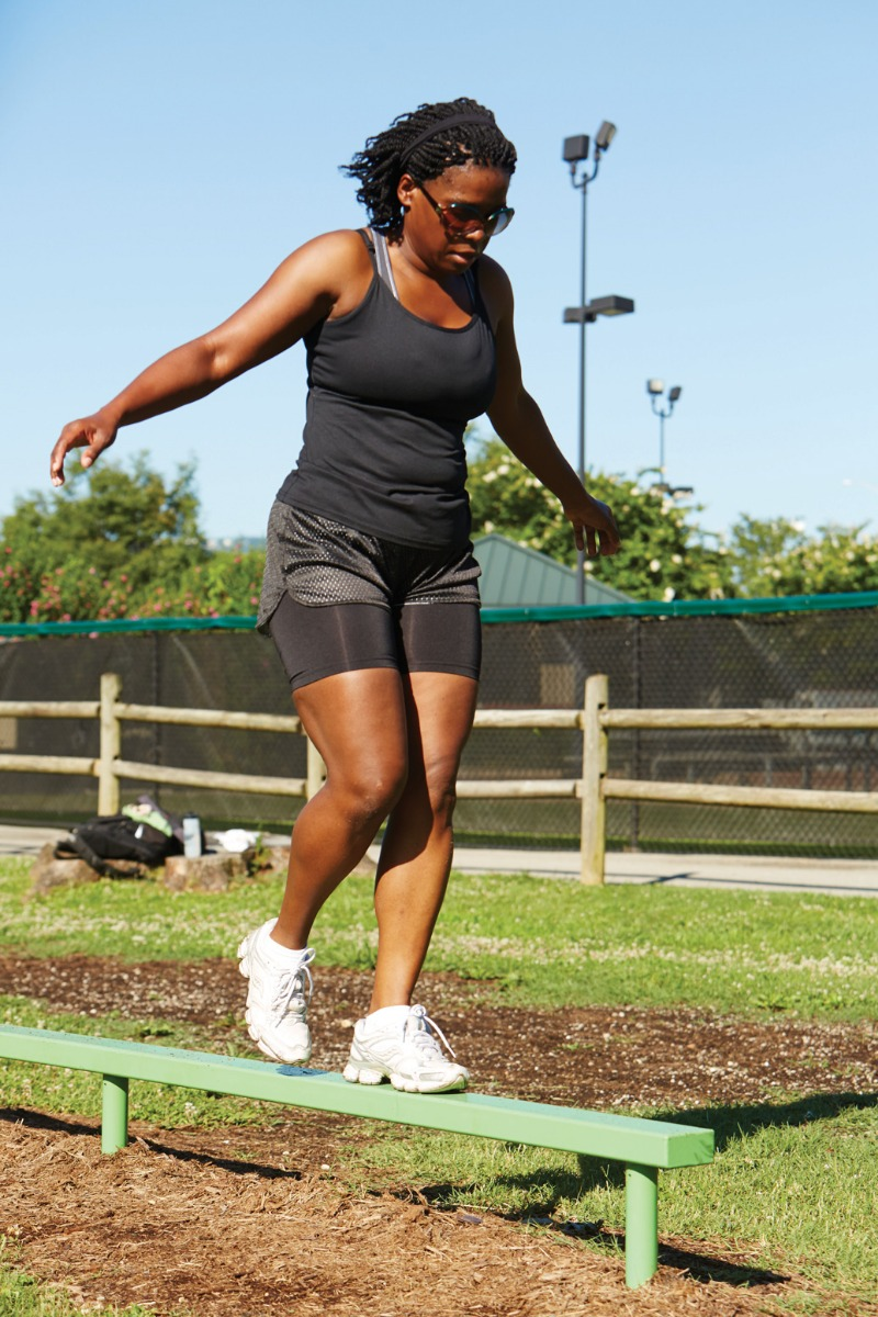 balance beam - outdoor fitness equipment