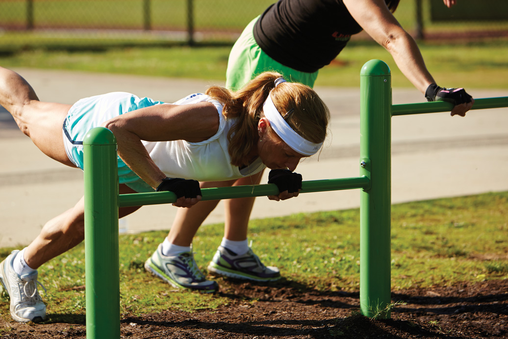 push up station - outdoor fitness equipment