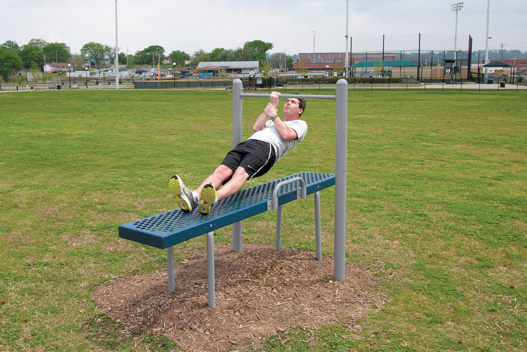 horizontal chin-up station - outdoor recreation equipment
