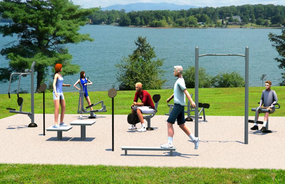 Medium Fitness Kit - Outdoor Fitness Equipment - American Parks Company