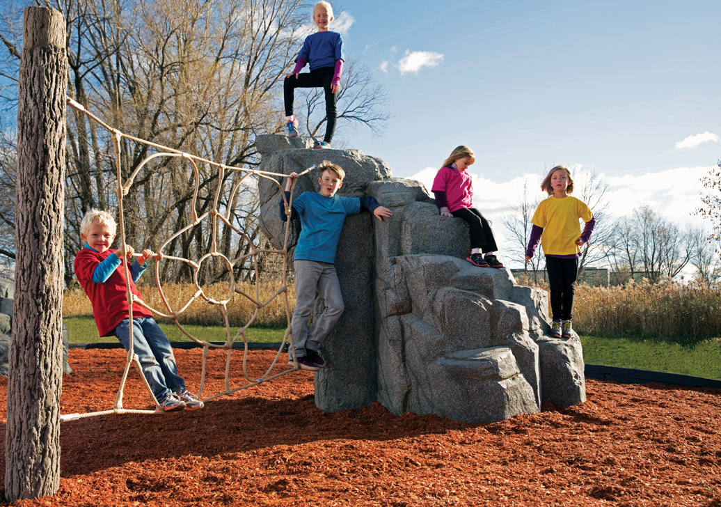 Spider Mountain - commercial play structure - natural