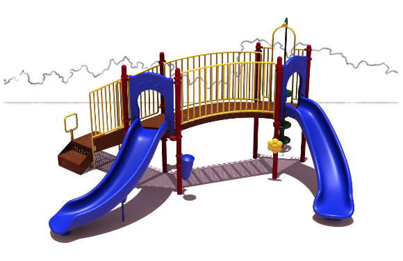 Slugger Play Structure - Primary Color Scheme - Front View