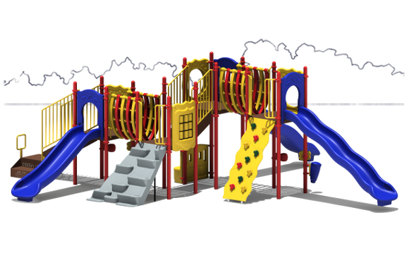 MVP Budget Play Structure - Primary Color Scheme - Front View