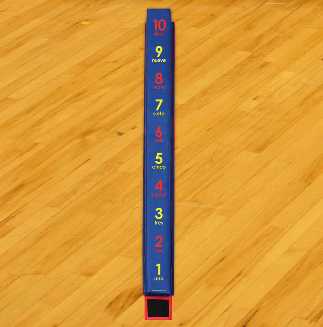 WeeKidz Balance Beam - Spanish Numbers