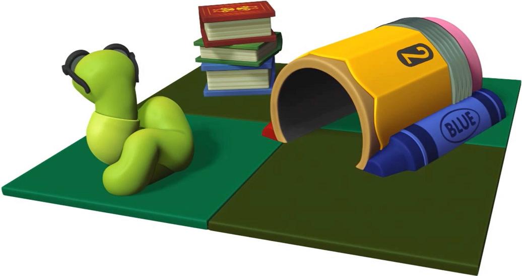 bookworm's Corner - indoor play structure - toddler - back