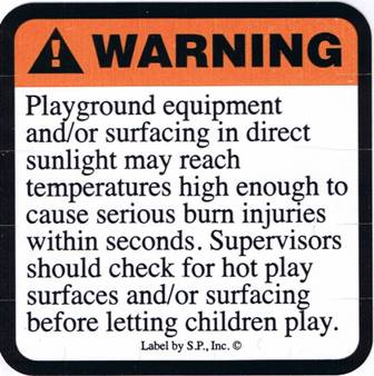 Hot Surface Warning Label