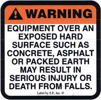 Hard Surface Warning Label