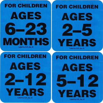 Playground Warning Labels for Age Ranges
