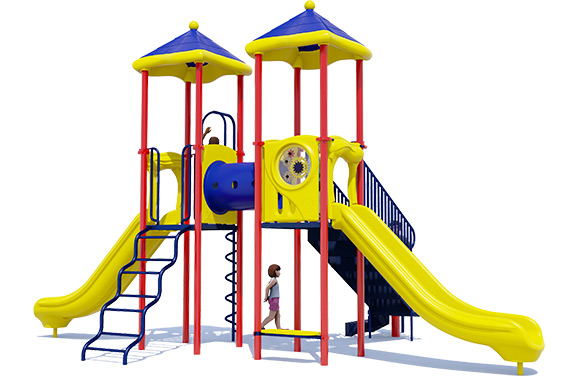 3D render of Double Take playground structure