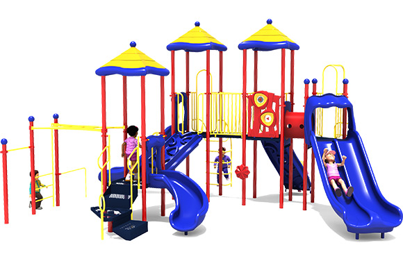 3D Render of Merry Maker commercial play structure