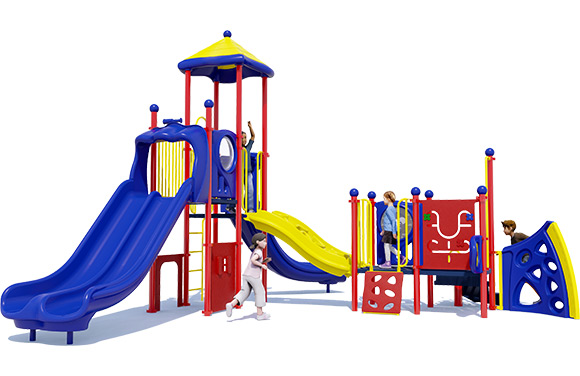 3D render of Tiger Tail commercial playground