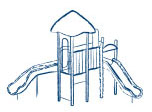 Commercial playground icon