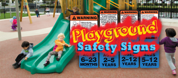 Playgrounds Signs & Safety Precautions